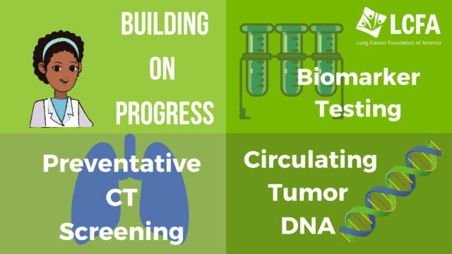 Building on progress: Biomarker Testing, Preventative CT scans and Circulating Tumor DNA for lung cancer