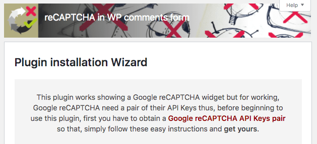 Activating reCAPTCHA in WP comments form plugin