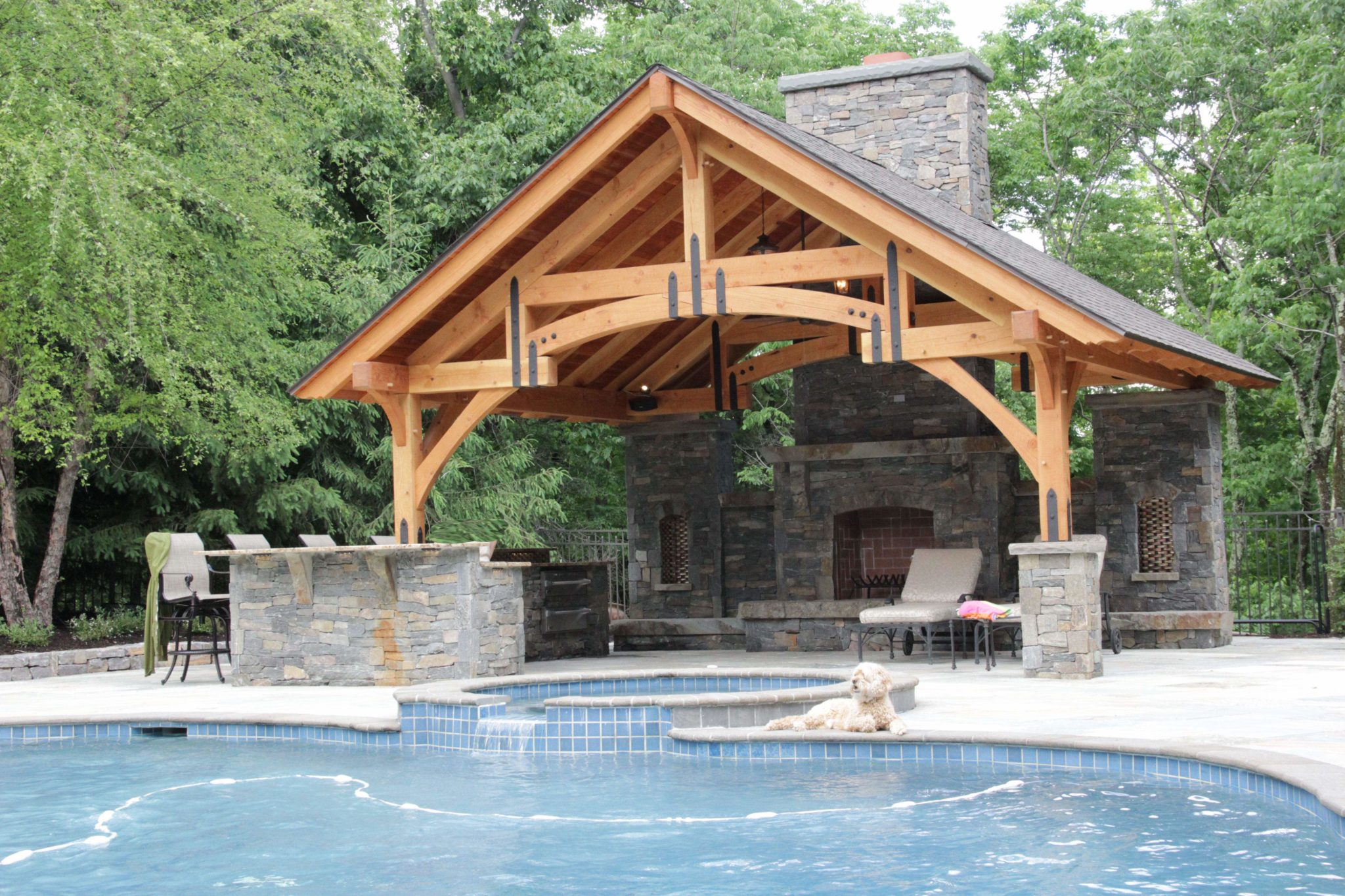 Timber Frames Used to Create Beautiful Outdoor Living Spaces on Outdoor Kitchen Living Spaces id=92012
