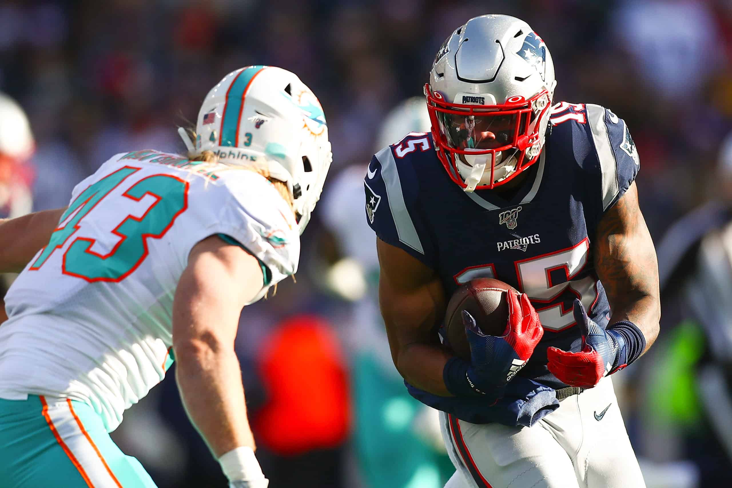 Dolphins Vs Patriots Fantasy Football Worksheet Week 1