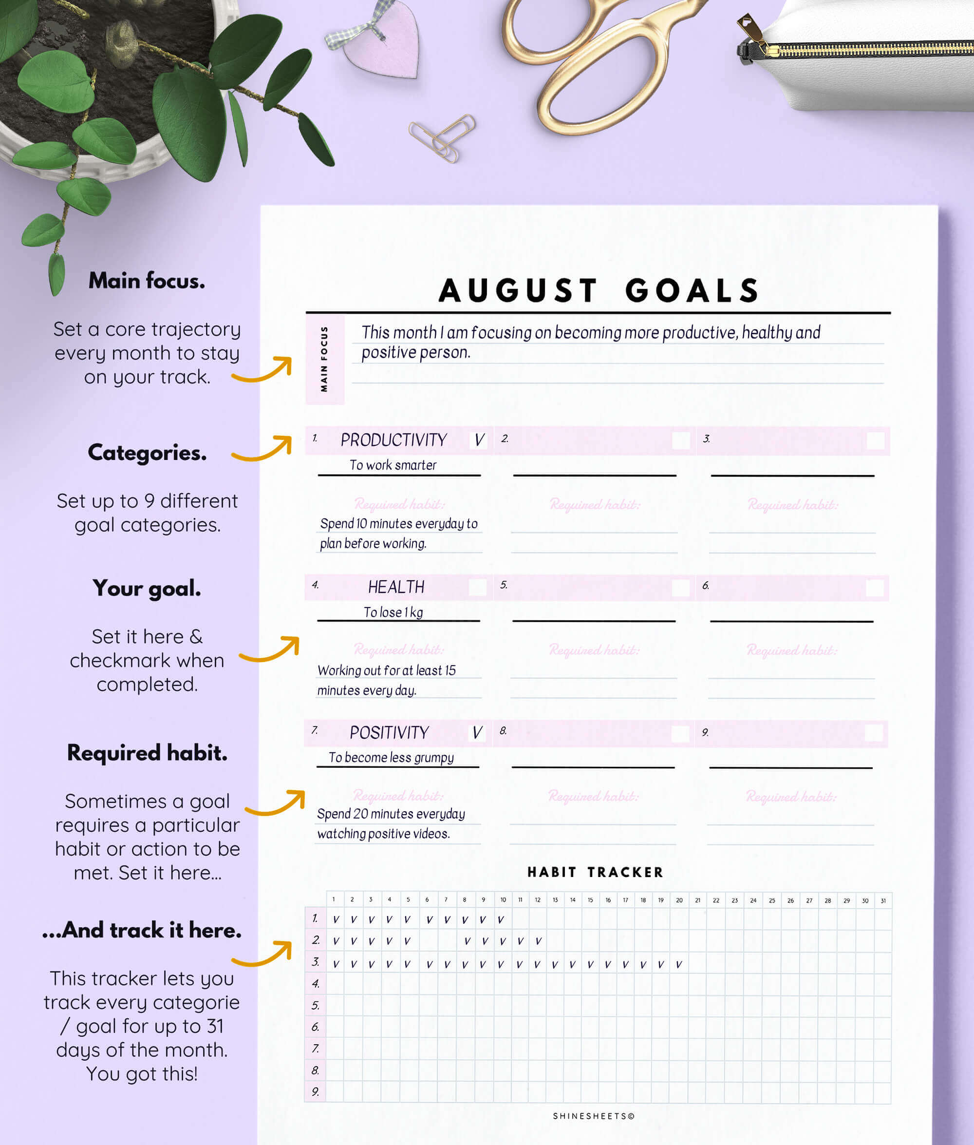 Goal Planning Amp Setting Bundle 23 Pages