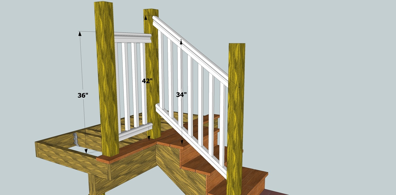 Solving Porch Problems Thisiscarpentry   Building Deck Stair Railings   Outdoor Stair   Balusters   Porch Railing   Porch   Stair Treads