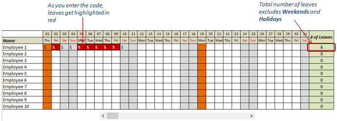 There isn't anyone who hasn't come down with a nasty cold or virus just days before a big event. Free Excel Leave Tracker Template Updated For 2021