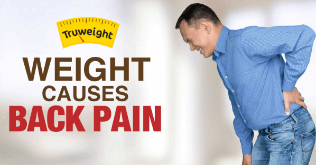 excess weight causes back pain