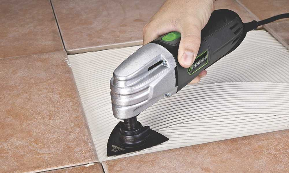 cutting tile with oscillating tool