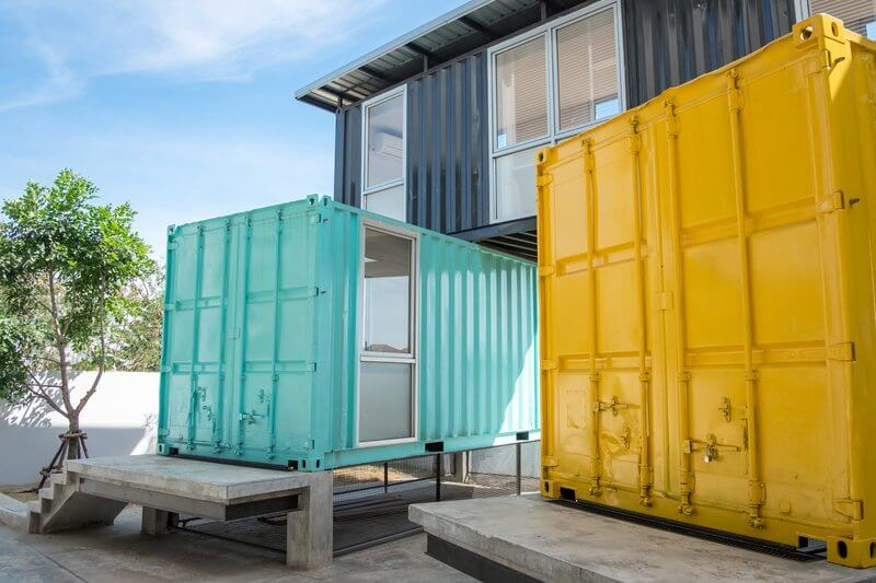 Shipping container homes ready for delivery
