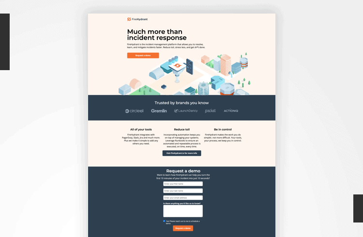 Twitter Landing Page Examples - FireHydrant