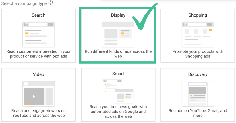 Campaign Type: Display ad