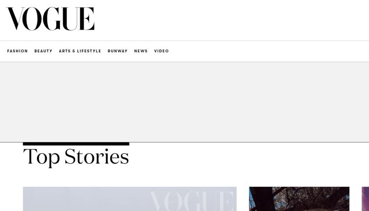 Vouge - A big brand using WordPress