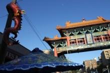 Gate, dragon & umbrella