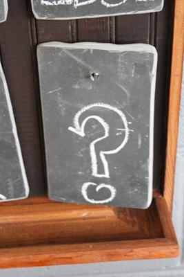 Chalkboard questions?