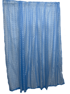 Taped Lace Curtain Blue