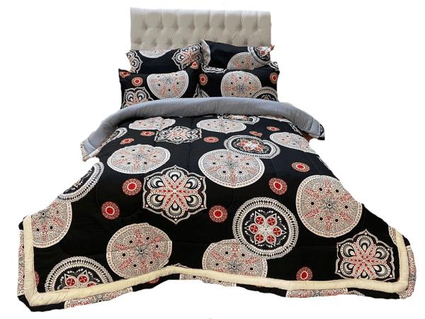 5 Piece 200GSM Microfibre Comforter Set2
