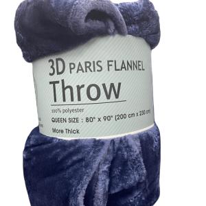 3D Paris Flannel Throw Blanket4