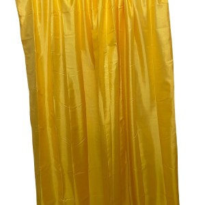 Lined Tafetta Curtain Yellow