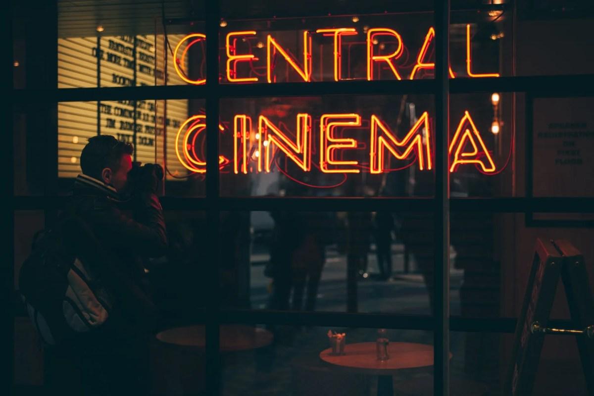 orange central cinema led signage