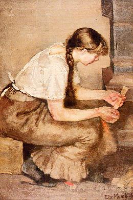 Edvard Munch, Girl Kindling Stove