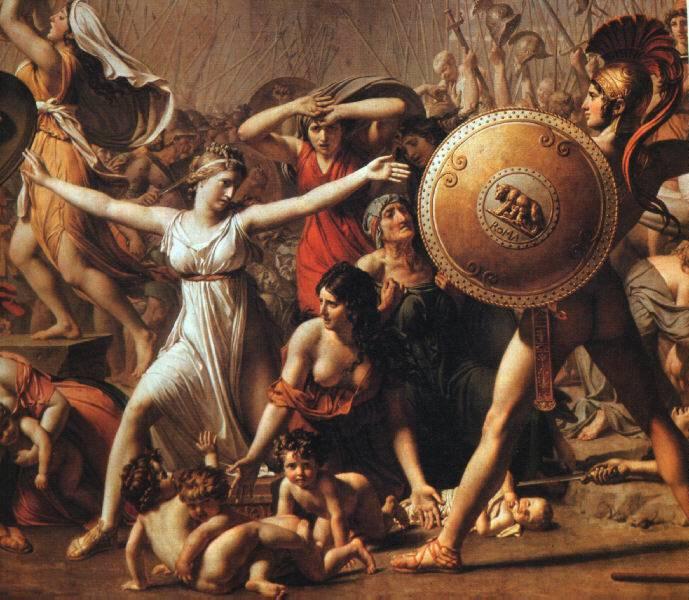 Rape of The Sabine Women, Jacques-Louis David, 1799