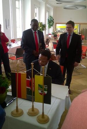 Kenyan MPs in Magdeburg
