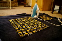 Pre-Sewing Ironing.