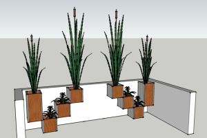Planters for a modern deck