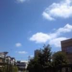 天気がよすぎて。