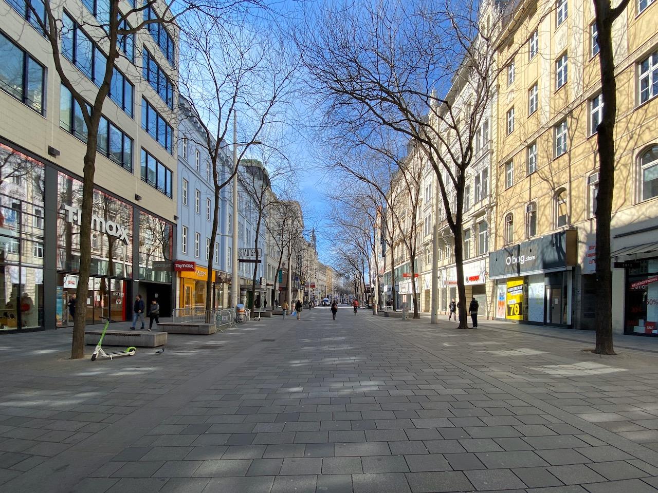 Mariahilfer Straße am 16.3.2020