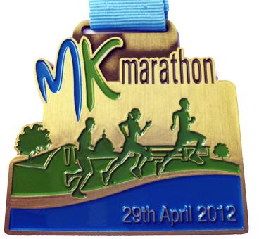 The 1st MK Marathon medal in 2012