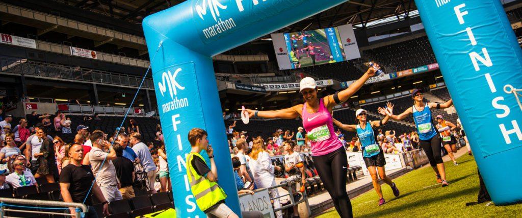 MK Marathon with amazing stadium finish