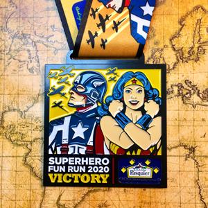 Brioche Superhero Fun Run - VE 75th Anniversary Themed Medal