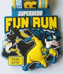 Superhero Fun Run 10th Anniversary Medal 2021
