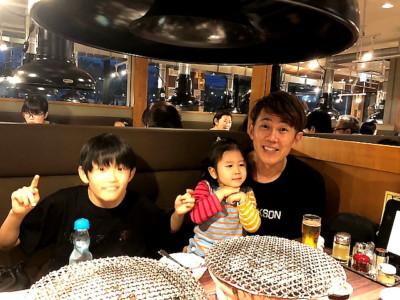 孫家族と一緒に食事会!