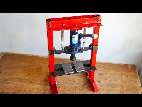 Hello Friends, Today I Make A Hydraulic press Machine Using Of 5 Ton Hydraulic B...