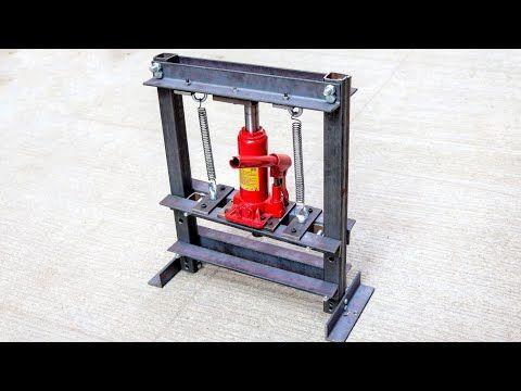How To Make Hydraulic Press Machine | mini hydraulic machine | Without Welding -...