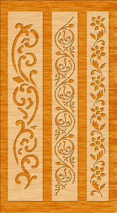6 File di taglio bordo per Laser, Cnc & Plasma, Cricut parete Floral Stencil, stencil decorativo bordo elegante