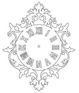 Roman Numeral Wall Clock - DXF DOWNLOADS - Files for Laser Cutting and CNC Router ArtCAM DXF Vectric Aspire VCarve MDF Crafts Woodworking