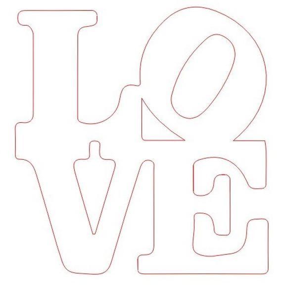 Love sign  DXF SVG PNG file nice cut file cnc plasma, vinyl cutter, cricut, cameo cut files