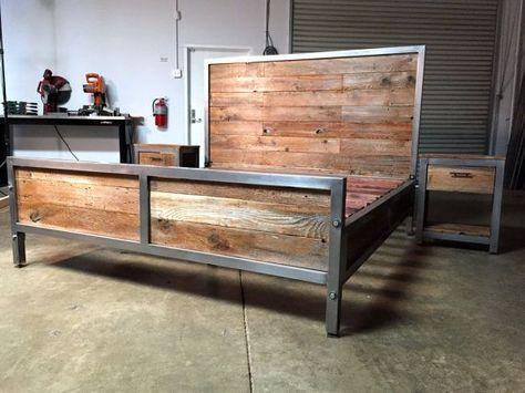 headboards ideas metal wood industrial - Google Search