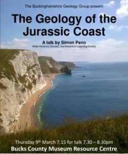 Poster - Talk Geology of The Jurassic Coast by Simon Penn 9 March 2017