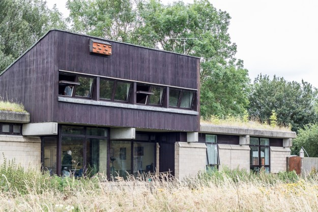 Linford Lakes Nature Reserve showing observation deck by Peter Hassett
