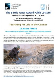 The Barrie Jones Award Lecture 2017 Poster