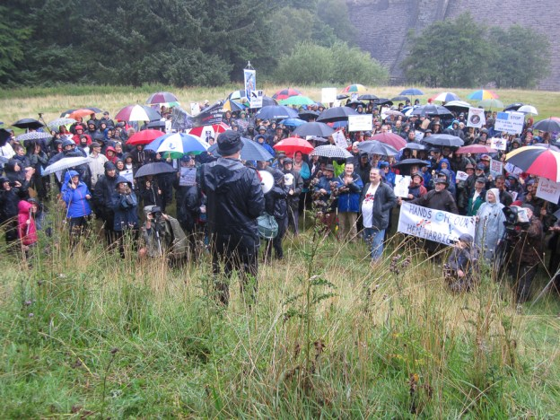 2014 Hen Harrier Day ©Sue Hetherington, Derwent Dam 10 August 2014