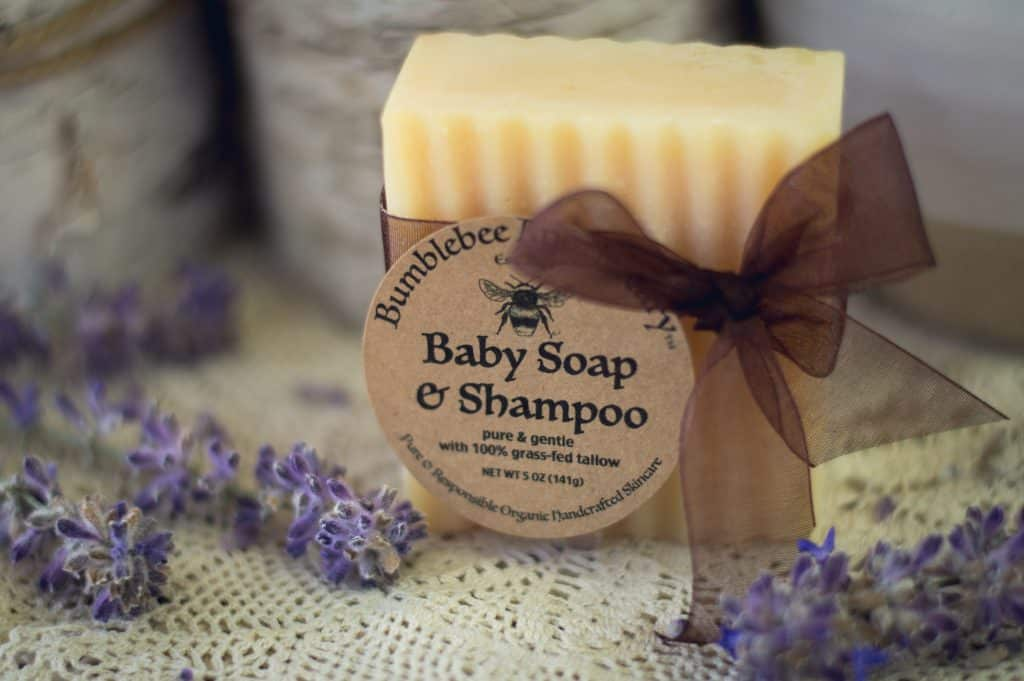 how to make baby soap and shampoo with grass fed tallow