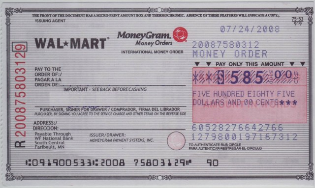 How to fill out a MoneyGram money order - MKRD.info