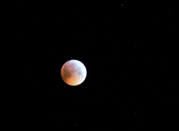 Total lunar eclipse 2019 in Burrow, Suffolk, UK