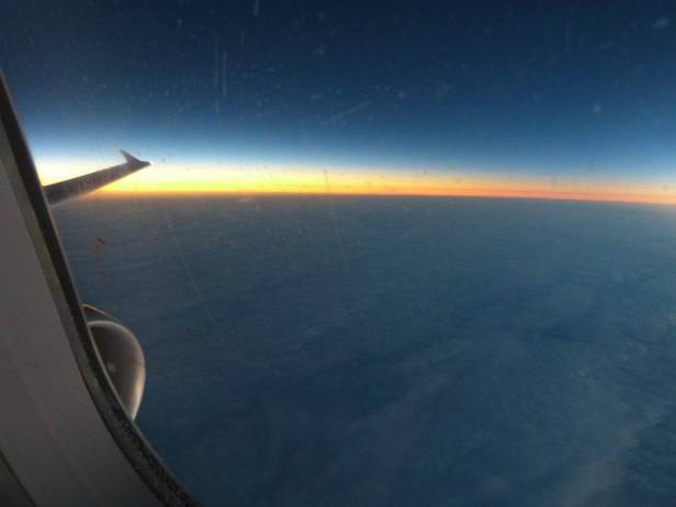 Total solar eclipse 2015 seen from the plane