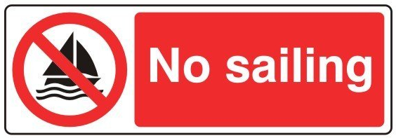 No Sailing Sign