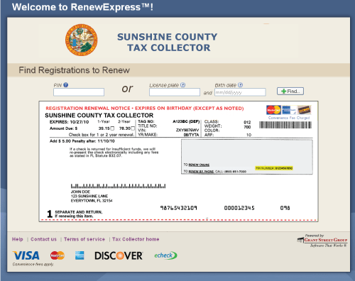Florida Vehicle Registration Online