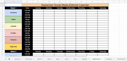 Build Your Social Media Calendar