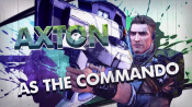 AXTON as the commando
